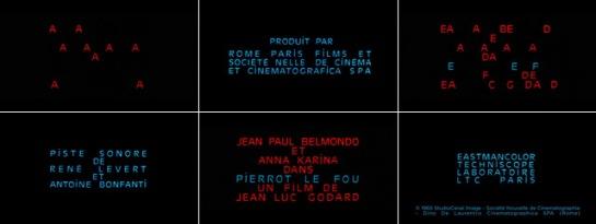 PIERROT LE FOU (1965) GODARD